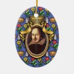 William Shakespeare Adorno Navideño Ovalado De Cerámica