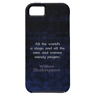 William Shakespeare All The World's A Stage Quote iPhone 5 Cases