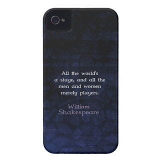 William Shakespeare All The World's A Stage Quote iPhone 4 Case-Mate Case