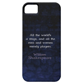 William Shakespeare All The World's A Stage Quote iPhone SE/5/5s Case