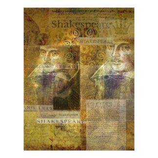 WILLIAM SHAKESPEARE art Custom Letterhead