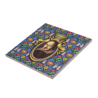 William Shakespeare Azulejo Cuadrado Pequeño