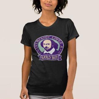 William Shakespeare Bard Boy Textured Portrait Shirt