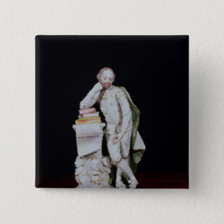 William Shakespeare, based on the monument Pinback Button