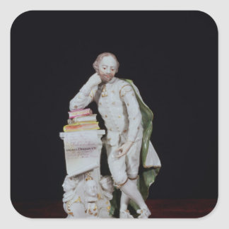 William Shakespeare, based on the monument Square Sticker