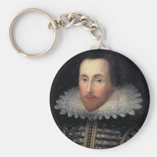 william shakespeare basic round button keychain