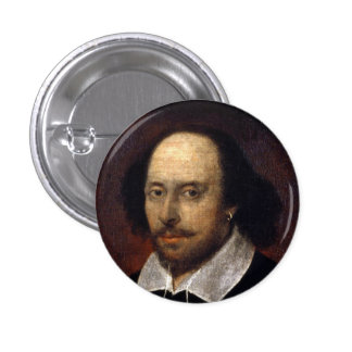 William Shakespeare Button