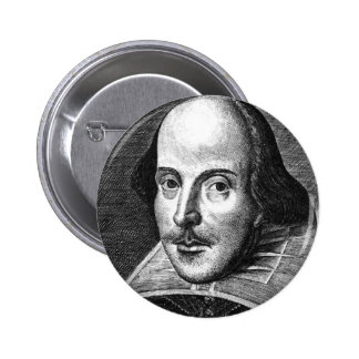 William Shakespeare Pinback Buttons