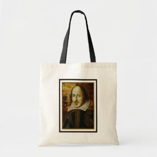 William Shakespeare Canvas Grocery Tote Budget Tote Bag