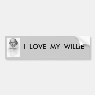 WILLIAM SHAKESPEARE CAR BUMPER STICKER