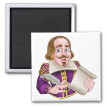 William Shakespeare Cartoon Magnet