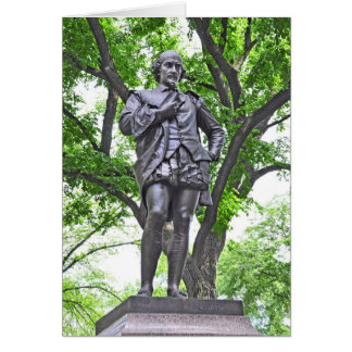 William Shakespeare - Central Park Card