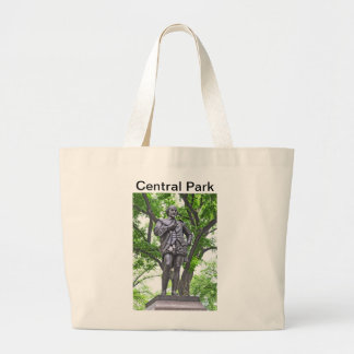William Shakespeare - Central Park Large Tote Bag