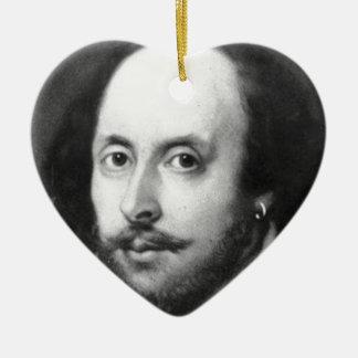 William Shakespeare Ceramic Ornament