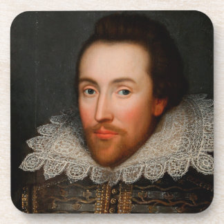 William Shakespeare Cobbe Portrait Beverage Coaster