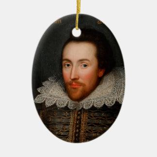 William Shakespeare Cobbe Portrait Ceramic Ornament