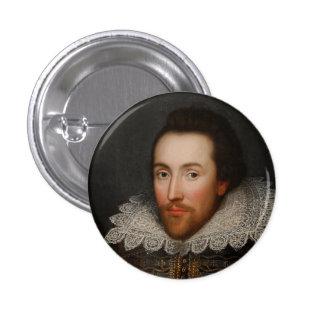 William Shakespeare Cobbe Portrait  circa 1610 Button