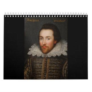 William Shakespeare Cobbe Portrait  circa 1610 Calendar
