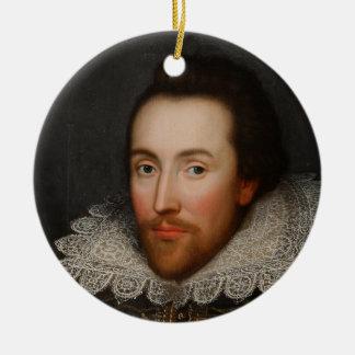 William Shakespeare Cobbe Portrait  circa 1610 Ceramic Ornament