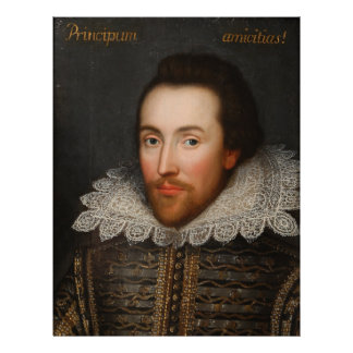 William Shakespeare Cobbe Portrait  circa 1610 Custom Letterhead