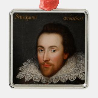 William Shakespeare Cobbe Portrait  circa 1610 Metal Ornament