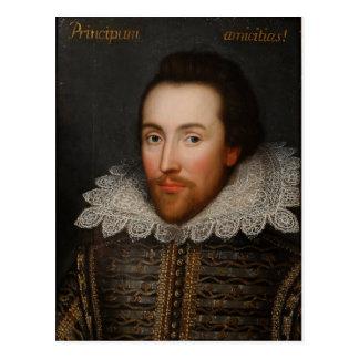 William Shakespeare Cobbe Portrait  circa 1610 Postcard