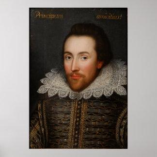 William Shakespeare Cobbe Portrait circa 1610 Poster