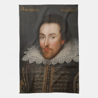 William Shakespeare Cobbe Portrait  circa 1610 Towel