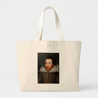 William Shakespeare Cobbe Portrait Large Tote Bag