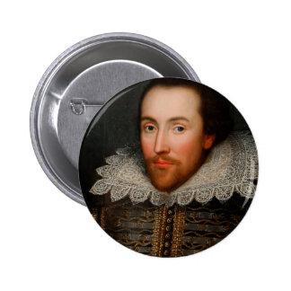 William Shakespeare Cobbe Portrait Pinback Button