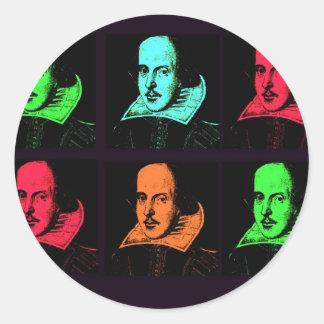 William Shakespeare Collage Classic Round Sticker