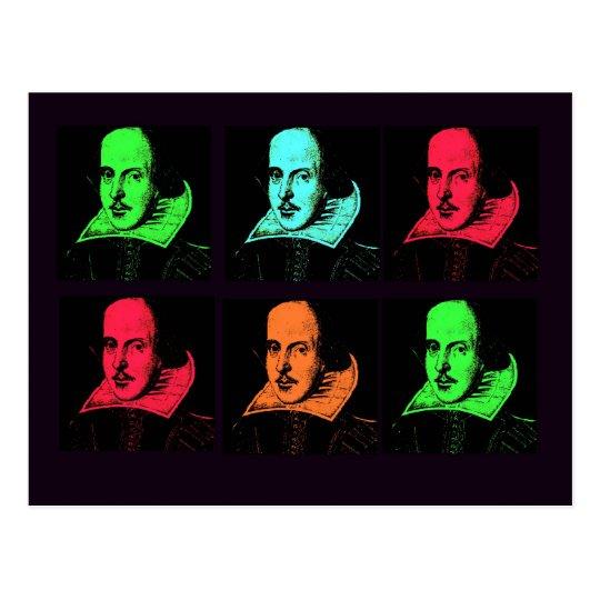 William Shakespeare Collage Postcard