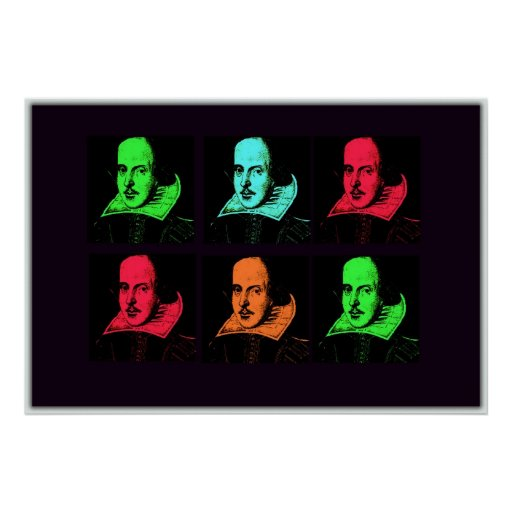 William Shakespeare Collage Poster