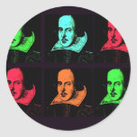 William Shakespeare Collage Round Stickers