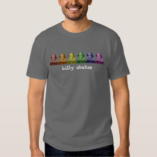 william shakespeare colors, now with text!! shirt