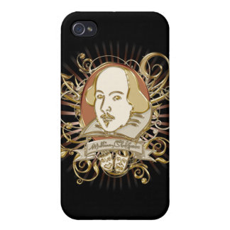 William Shakespeare Crest (Gold) Cover For iPhone 4