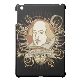 William Shakespeare Crest (Gold) iPad Mini Covers
