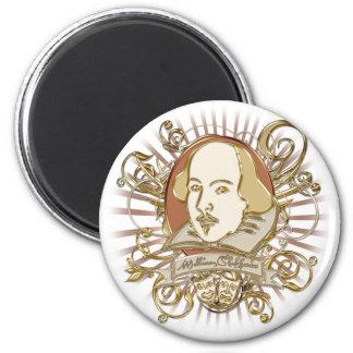 William Shakespeare Crest (Gold) Magnet