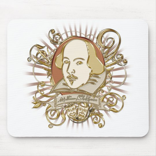 William Shakespeare Crest (Gold) Mouse Pad