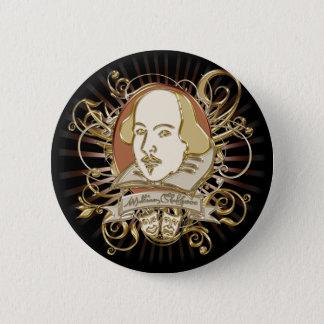 William Shakespeare Crest (Gold) Pinback Button