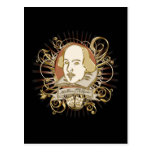 William Shakespeare Crest (Gold) Post Cards