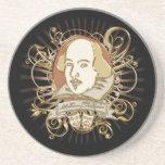 William Shakespeare Crest (Gold) Sandstone Coaster