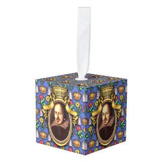 William Shakespeare Cube Ornament