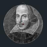 "William Shakespeare Dartboard<br><div class=""desc"">A beautiful product featuring a portrait of William Shakespeare.</div>"