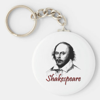 William Shakespeare Etching Keychain