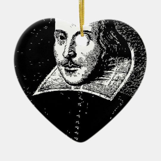 William Shakespeare Face Ceramic Ornament