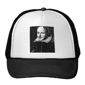William Shakespeare Face Mesh Hats