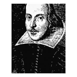 William Shakespeare Face Letterhead Design