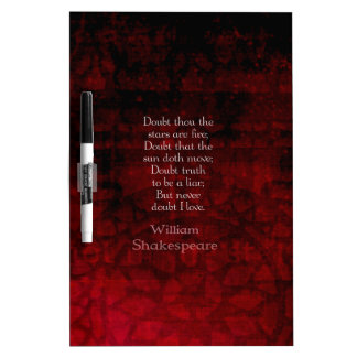 William Shakespeare Famous Love Quote Dry-Erase Board