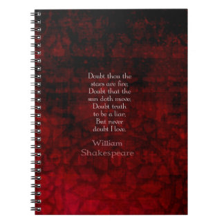 William Shakespeare Famous Love Quote Note Book